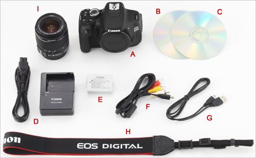 EOS 600D套机附件图(EF-S 18-55mm f/3.5-5.6 IS II)