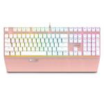 雷柏V720 RGB机械键盘 游戏键盘 有线键盘 玫瑰金