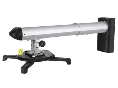 TOPSKYS PB095B通用型前投式短焦固定投影仪墙壁挂架伸缩旋转调节投影机支架投影架