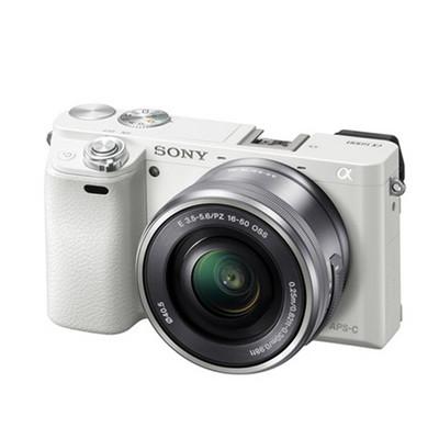 Sony 索尼 ILCE-6000套机(E PZ 16-50mm)选GO套装送:店铺延保1年!