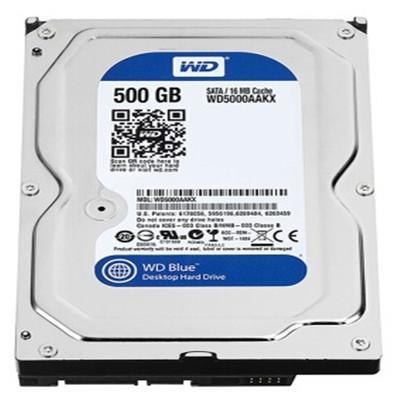 西部数据 500GB 7200转 16MB SATA3 蓝盘(WD5000AAKX)