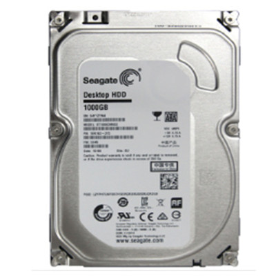 希捷 Desktop HDD 1TB 7200转 64MB 单碟(ST1000DM010)