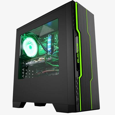 幻彩四核i5 7400/GTX1050独显DIY组装游戏电脑主机台式机兼容机