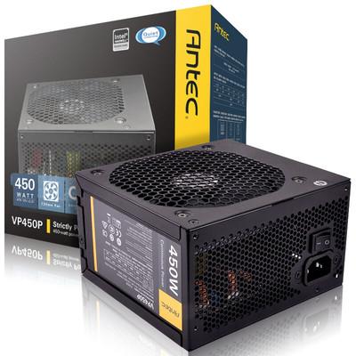 【行货保证限时特惠】安钛克(Antec)额定450W VP 450P 电脑电源(双显卡接头/主动式PFC/12CM静音风扇/台式机电源)