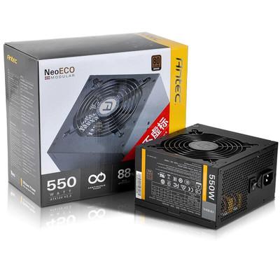 【行货保证限时特惠】安钛克(Antec) 额定550W 新模尊 Neo Eco 550M 电源(80PLUS铜牌/模组电源/ 120mm静音风扇/电脑电源)
