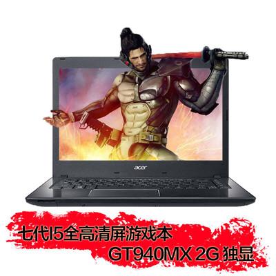 【限时特惠顺丰包邮】宏碁(acer)TMP249-MG-555T 14.0英寸7代i5独显 1080P全高清商务游戏笔记本电脑 7代i5-7200U GT940MX 2G 8G