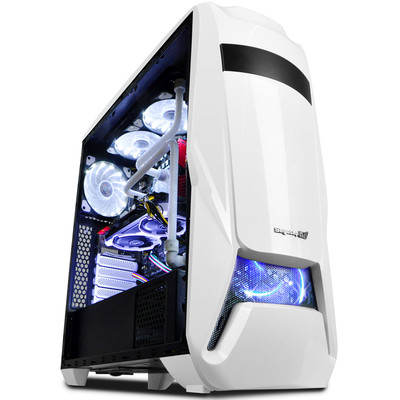 鑫谷 战舰EVA女神机箱 大板型游戏电脑主机箱 支持240水冷 独立电源仓 多风道散热