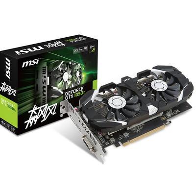 微星 GeForce GTX 1050Ti 飙风 4G 电脑游戏显卡战470D GAMING X 红龙