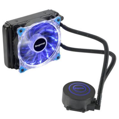 鑫谷 Segotep 水凌霜120 一体式水冷CPU散热器(LED灯光/多平台通用/4针智能温控风扇/带硅脂/120冷排)
