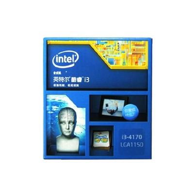 英特尔(Intel)i3 4170 22纳米盒装 双核cpu 台式电脑处理器