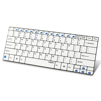雷柏 E6100蓝牙键盘 刀锋无线键盘 蓝牙键盘