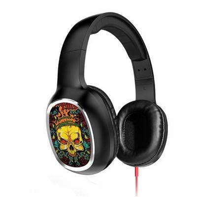 HOCO/浩酷 W1时尚个性彩绘头戴式电脑语音耳麦便携线控重低音耳机