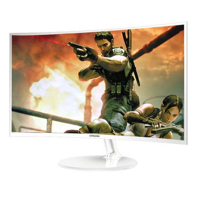 三星(SAMSUNG) C32F391FW 31.5英寸1800R液晶电脑曲面显示器32 白色