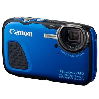 Canon 佳能 D30三防相机 蓝色(1210万像素 5倍光学变焦 3英吋屏 25米防水 抗震耐寒 GPS)*
