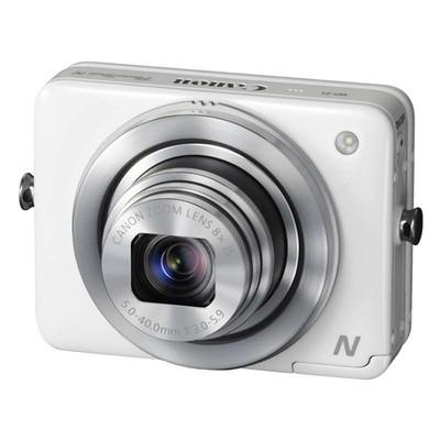 佳能(Canon) PowerShot N 数码相机 白色(1210万有效像素 2.8英寸上翻式触摸屏 8倍光学变焦 WiFi传输)