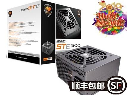 骨伽(COUGAR)ES500电竞电源 额定400W电脑电源 台式机温控静音背线 黑色