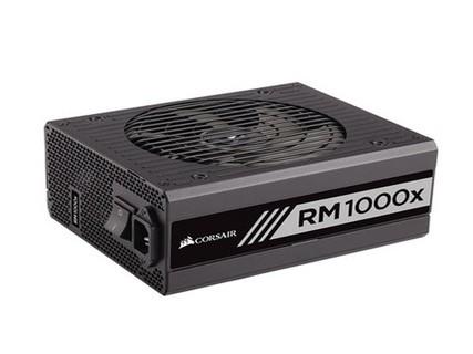 海盗船RM1000X台式电脑主机全模组电源额定1000W金牌认证风扇静音 黑色