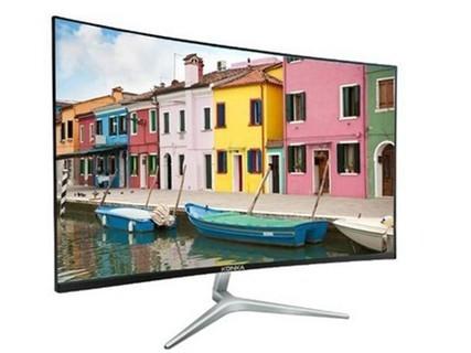 康佳KX24 23.8英寸超薄曲面显示器 高清电竞吃鸡游戏液晶